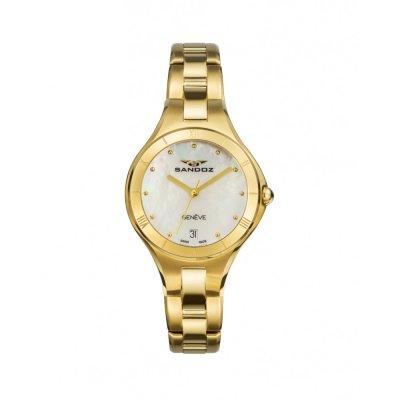 principal Reloj Sandoz 81370-97 mujer acero IP dorado