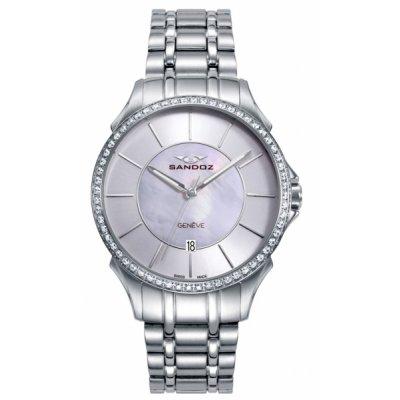 principal Reloj Sandoz 81372-07 mujer acero gris