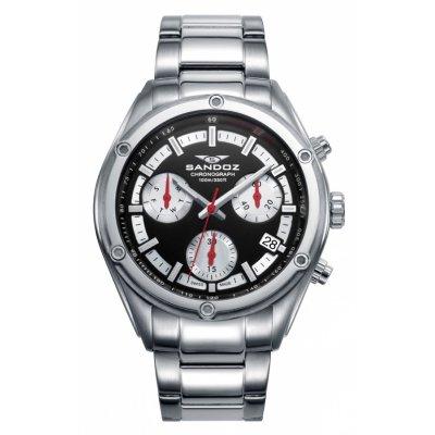 principal Reloj Sandoz Crono 81509-57 hombre acero negro