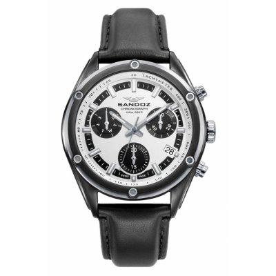 principal Reloj Sandoz Crono 81513-07 hombre acero blanco