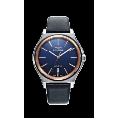 principal Reloj Sandoz Dynamique 81479-37 hombre azul