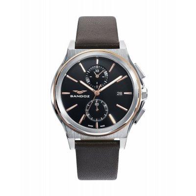 principal Reloj Sandoz Dynamique 81485-57 hombre negro cronógrafo
