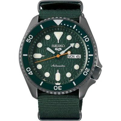 principal Reloj Seiko 5 Sports SRPD77K1 Hombre Acero Verde Automático