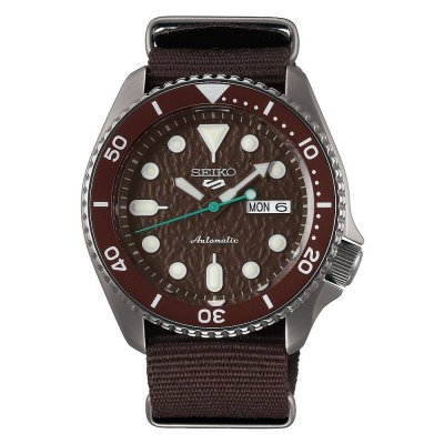 principal Reloj Seiko 5 Sports SRPD85K1 Hombre Acero Marrón Automático