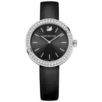 fc6e5b398487 Reloj Swarovski Daytime 5172176 Mujer Negro Piel - Joyería Francisco Ortuño