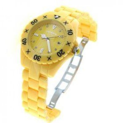 principal Reloj Vanessia Time VT0140 Unisex Amarillo Cuarzo  Analógico