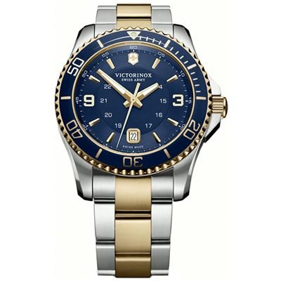 principal Reloj Victorinox V241790 maverick gs blue/gold