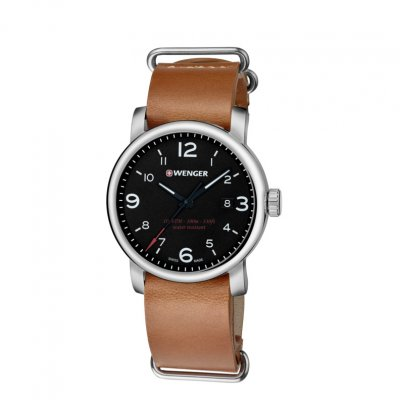 principal Reloj WENGER 01.1041.136 Hombre Plata