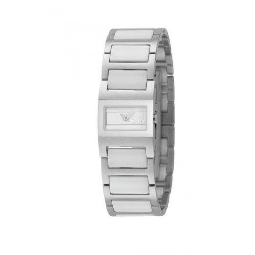 4fdb6c37270b La imagen se está cargando Reloj-DKNY-NY3835-Mujer-Blanco -Rectangular-CerA-mica