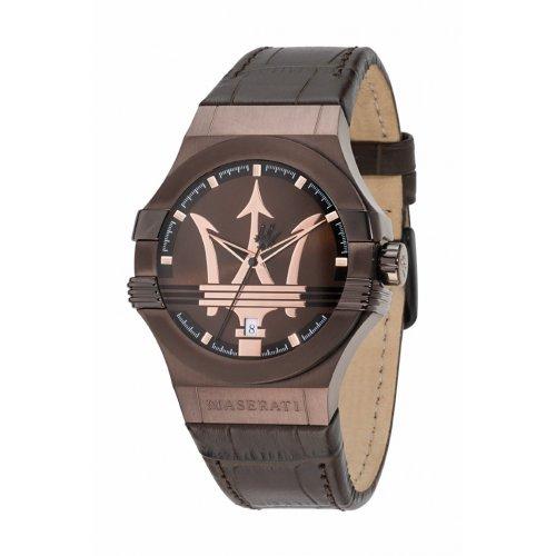 d5d842ece452 La imagen se está cargando Reloj-Maserati-Potenza-R8851108011-Hombre-Piel- Marron