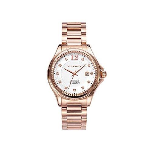 c0fdfcbaee8d Detalles de Reloj Viceroy 47890-95 Mujer Oro rosa Acero Diamantes